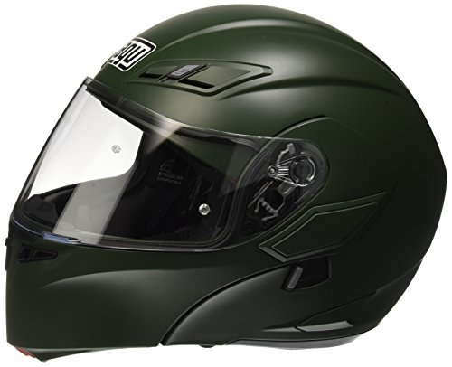 AGV Casco Moto Compact St E2205 Solid PLK, Matt Military Green, M
