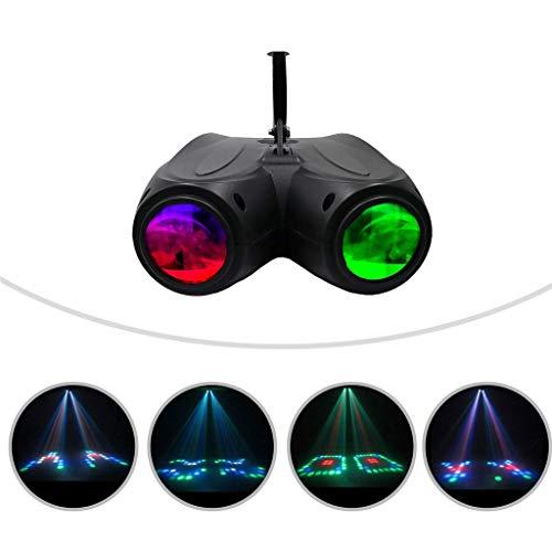 128 LEDs Disco DJ Party Lichter 20 W RGBW Doppelkopf Luftschiff Projektor Lampe Bühneneffekt Licht für Bar Geburtstag KTV Holiday Home Party Geschenk (EU-Stecker)