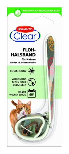 Bob Martin G2123 Clear reflektierendes Flohhalsband für Katzen, Modell und farblich sortiert