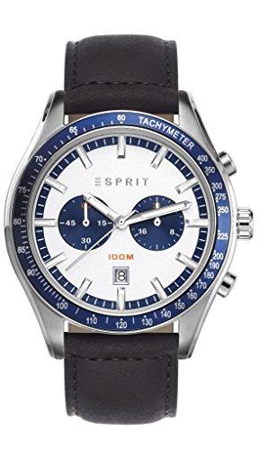Esprit Herren-Armbanduhr Ryan Chronograph Quarz Leder ES108241002