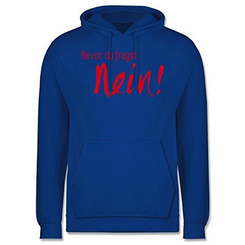 Statement Shirts - Bevor du fragst Nein! Rot - Männer Premium Kapuzenpullover / Hoodie Royalblau