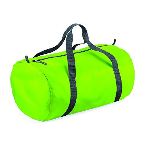 BagBase Packaway barrel bag Lime Green