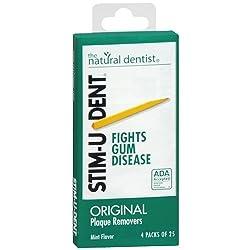 Stim-U-Dent Plaque Removers 12 Packs of 25 Picks/Pack (300 Picks)