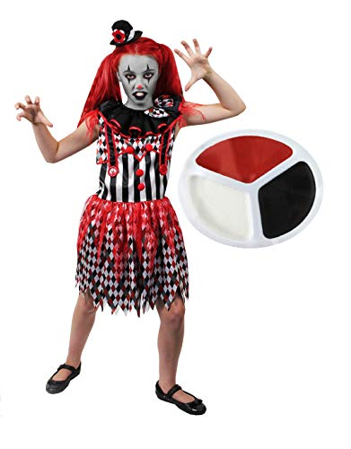 ILOVEFANCYDRESS Girl Clown Killer GRUSEL HARLEKIN NARR