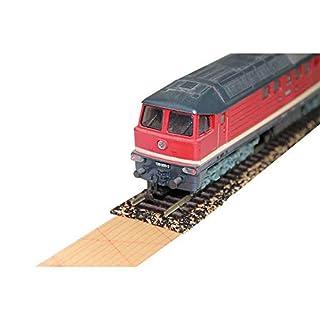 acerto 30053 10x Gleisbett aus Gummikork für Spur N – 2,1 x 100cm ✓ Zuschneidbar ✓ Antistatisch ✓ Vibrationsdämmende Schienenunterlage | Modellbauartikel als Gleisunterlage, Gleisbettung