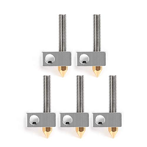 Aibecy Anet 0,4mm Messing Düsen Extruder Druckkopf + Heizblock Hotend + 1,75mm Throat Rohre Rohre für Anet A8 A6 Ender 3 3D Drucker Zubehör (15 Teile/satz)