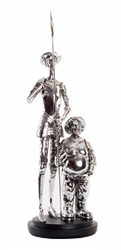 Item Figure QUIJOTE Silver Plated Resin 14 * 14 * 37 Approximately