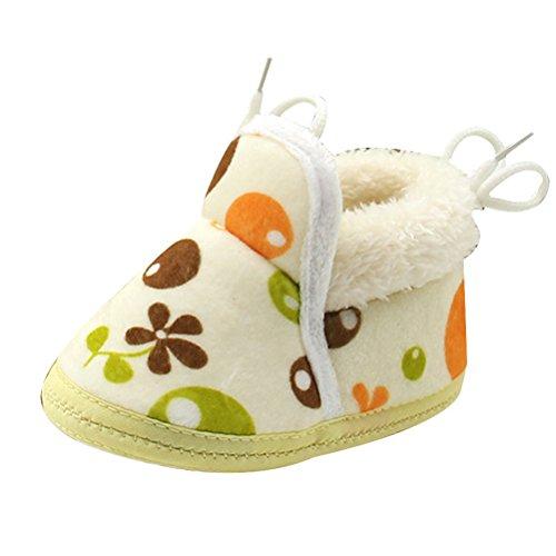 Zhuhaitf Excellent Unisex Toddler Soft Sole Anti-Slip Shoes Baby Girls Boys Warm Cotton Shoes yellow
