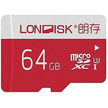 LONDISK 4K 64 GB Tarjeta Micro SD U3 Class10 Tarjeta Micro SDXC Tarjeta Memoria para la versión GoPro Hero con adaptador Micro SD 10 años de garantía ...