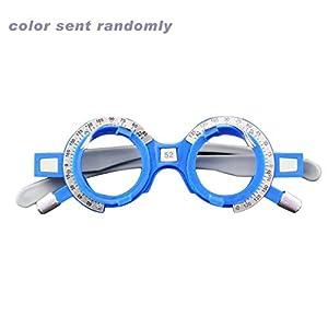 Einstellbare optische Versuchslinsenfassung 52-70 mm PD Augenoptik Optiker Kunststoff Brillengestell Brillenzubehör(zufällig 62mm) Jasnyfall