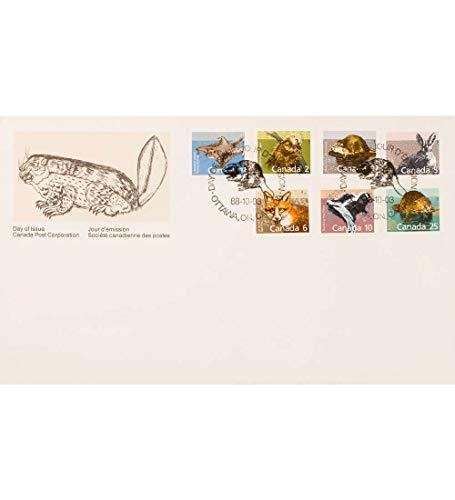 Goldhahn Kanada Nr. 1102-1108 FDC Ersttagsbrief Tiere Briefmarken für Sammler -