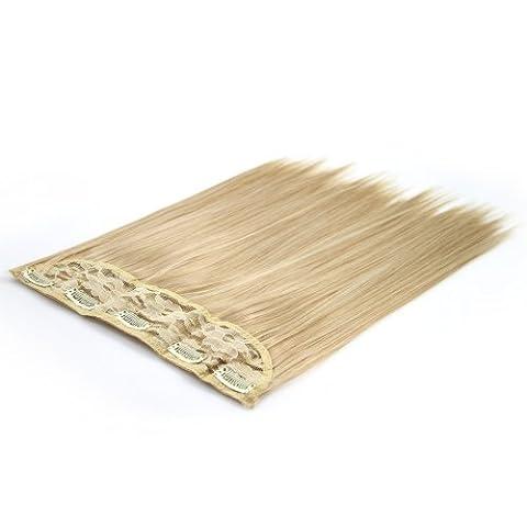 BiYa Hair Elements Thermatt Extensions cheveux lisses à clip Blond doré n°22 60 cm 100 g