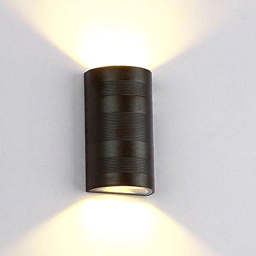 Maxmer 10w Led Wandleuchte Innen Moderne Minimalistische Wandlampe Up und Down sehr Wasserdicht IP65 als Außenwandleuchte und Innenwandlampe (Warmweiß)