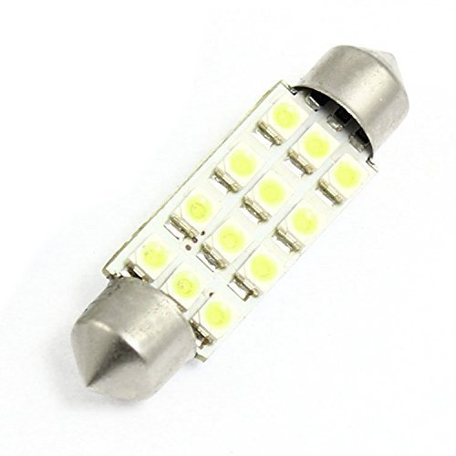 sourcingmap® 2 Pz SMD 1210 12 Bianco LED 42MM Auto Festone Luce Targa (Bianco Festone)