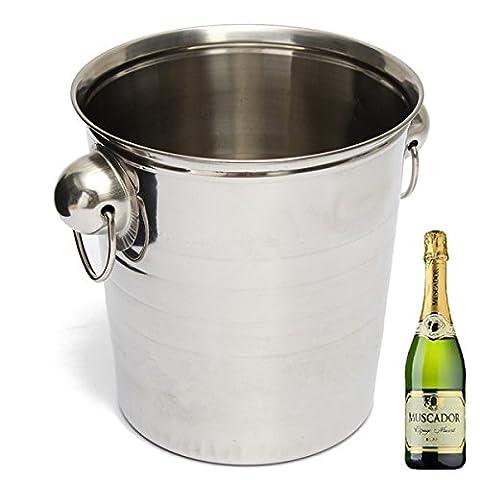 Inovey Seau De Glace En Acier Inoxydable Champagne Baril De Bière Refroidisseur De Vin Multifonction Outils De Barre