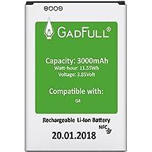GadFull® Batería para LG G4 | Fecha de fabricación del 2018 | Corresponde al original BL-51YF | Modelo de Smartphone LG G4 | G4 Dual Sim | G4 Stylus | H815 | H818P | H635