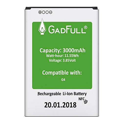 GadFull Akku für LG G4 | 2018 Baujahr | Entspricht dem original BL-51YF | Lithium-Ionen-Akku |der Modelle LG G4 | G4 Dual Sim|G4 Stylus | H815 | H818P | H635 | Ersatz Handy-Akku für Ihr Smartphone
