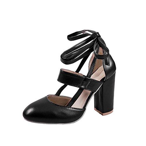 Witsaye scarpe donna tacco eleganti sexy plateau medio alto sandali donna con tacco estivi e plateau medio eleganti - moda donne sandali alti blocco partito scarpe (35, nero)