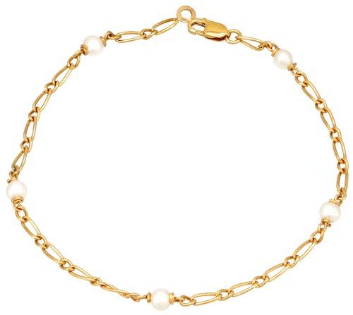 Orleo - REF405BB : Bracelet Femme Or 18K jaune et Perle d'eau douce - Fabriqué en France