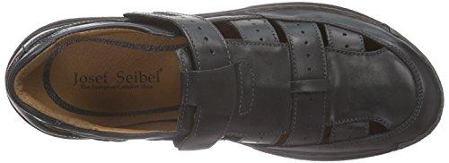 Josef Seibel Milo 07, Sandales  Bout ouvert homme Noir (908 600 Black)