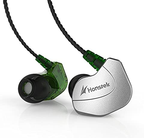 Earphones Honstek X6 Noise Isolating In-Ear Headphones with Microphone&Single Button