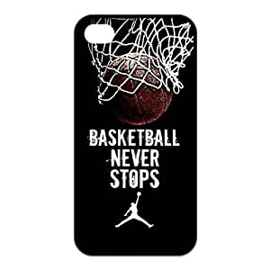 Custom Basketball Never Stops Durable Back Cover Case for iPhone 4 4s
