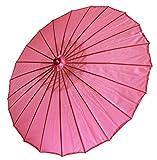 AAF Nommel ® Deko- Sonnenschirm aus Holz in pink rosa, einfarbig transparent, 104