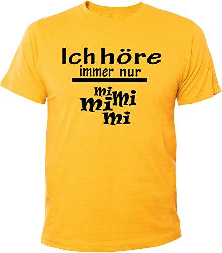 Mister Merchandise Herren Men T-Shirt Ich Höre Immer Nur - MI MI MI Tee Shirt Bedruckt Gelb