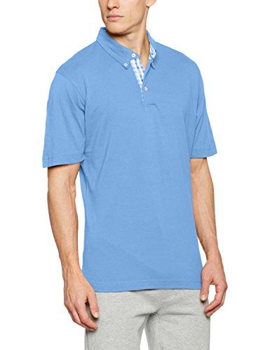 James & Nicholson Herren Poloshirt Men´s Plain Polo Blau (Glacier-Blue-White)