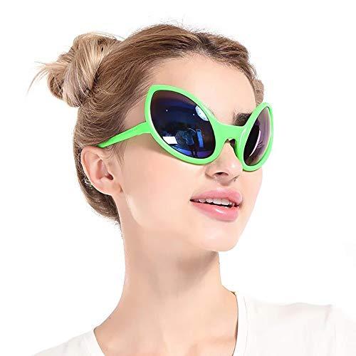 Ouken 1pc Lustige Alien Sonnenbrille Halloween-Partei-Kostüm-Neuheit-Glas-Partei Photo Booth Props Bevorzugungen Zubehör Partybedarf Dekoration Geschenk (grün)