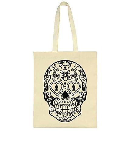 Beautiful Detailed Sugar Skull Design Tote Bag