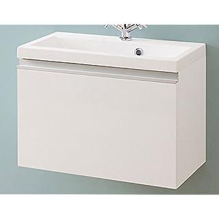 Waschbecken mit Unterschrank Badmöbel-set, 60cm breit, hochglanz weiß