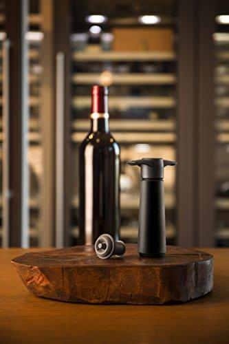 Vacu vin pompa salvavino con 2 tappi per il vuoto - nero