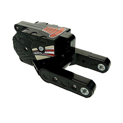 Bausteine gebraucht 1 x Lego Technic Rückzieh Motor 8 schwarz 10x5x4 Aufziehmotor Motorrad Pull Back mit Sitz rot beige Aufkleber Set 8371 motor8pb01 (Back Lego Pull Motor)