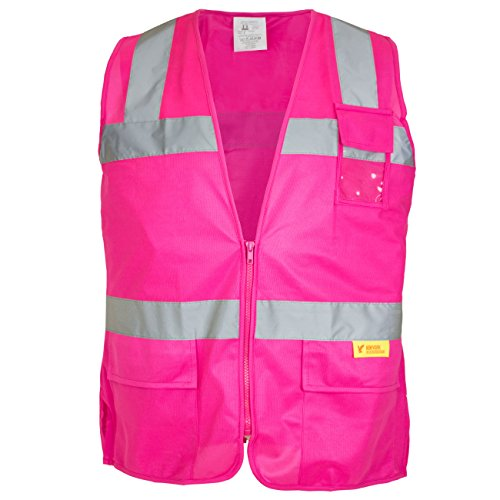 Ansi Class 2 T-shirt (New York Hi-Viz Workwear RK Safety PK0430 ANSI/ISEA Class 2 Certified Female Safety Vest (Pink Small))