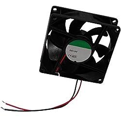 AERZETIX: Ventilateur pour boîtier d'ordinateur PC 12V 80x80x25mm 69,7m3/h 33dBA 3200rpm 28AWG