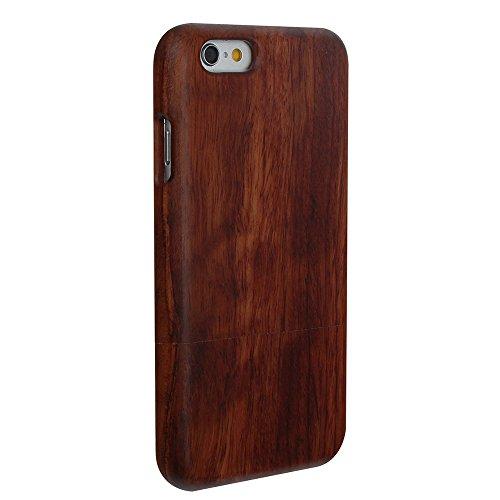 Hülle für iPhone SE 5 5S Forepin® Rosenholz Case Schutzhülle Echtem Holz Schutzhülle Hart Cover Bumper Rahmen Handyschale, Löwe Rosenholz