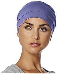Gorro Amablis para quimioterapia 100% algodón color azul púrpura