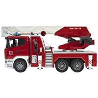 Bruder Scania R-Series Fire Engine Slewing Ladder, Water Pump and Lights and Sounds Module