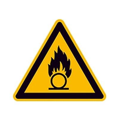 Aufkleber Warnung vor brandfördernden Stoffen Warnzeichen Größe (SL): 20,0cm Folie