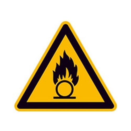 Schild Warnung vor brandfördernden Stoffen Warnzeichen Größe (SL): 20,0cm Alu