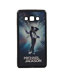 Exclusive 3D Design Effect Rubberised Back Case Cover For Samsung Galaxy A7 - Micheal Jackson