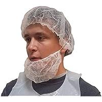 ProCES Verfahren Einweg Weiß Haarnetz–100Pack–Baretthaube–Polypropylen–53,3cm -