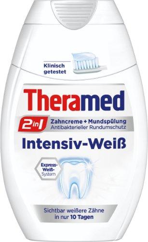 Theramed 2in1 Intensiv-Weiß Zahncreme & Mundspülung, 3er Pack (3 x 75 ml)