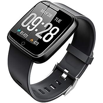 Pulsera Actividad, Pulsera Inteligente con Reloj con Pulsómetro Impermeable IP67 Podómetro Pulsera Deportiva Reloj para Xiaomi Samsung Huawei Android ...