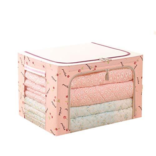 Mifusanahorn Faltbarer großer Betttuch-Aufbewahrungsbeutel aus Stahlgestell mit großem freiem Fenster und Tragegriff für Kleiderbettschränke Schlafzimmer Atmungsaktiver Wandschrank-Organiser -