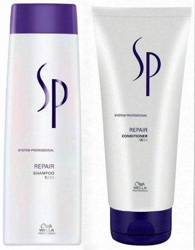 Wella SP Repair Set Shampoo 250ml + Conditioner 200ml (Sp Repair Conditioner)