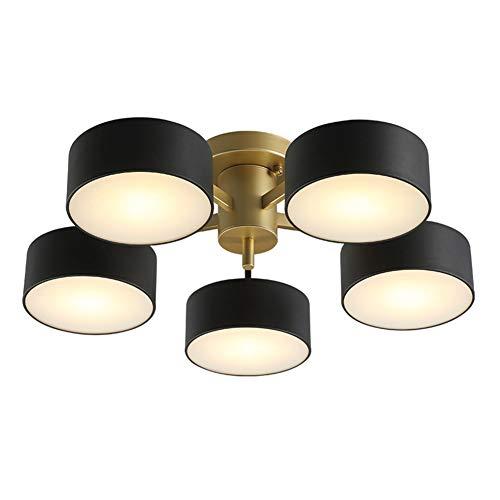 LED Deckenlampe Postmoderne Runde, Deckenleuchte 5-flammig Acryl Schirm Decke Lampe Modern Einfach Design Metall Eisen Lampen für Wohnzimmer Schlafzimmer Flur Küche Esszimmer Bad InnenBeleuchtung