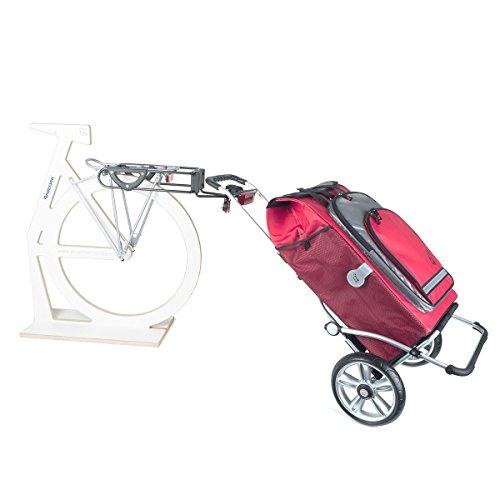 Spar Set: Andersen Einkaufstrolly Royal mit Fahrrad Anhängerkupplung für Gepäckträger & Einkaufstasche Hydro rot mit Kühlfach