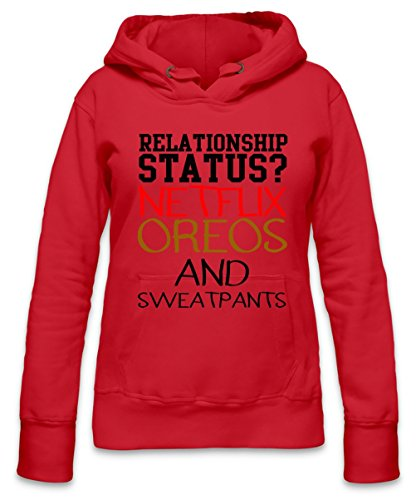 Relationship Status Netflix Oeos And Sweatpants Slogan Womens Hoodie X-Large